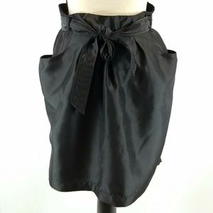 Gap Mini Skirt Sz 8 Black Sash Belt
